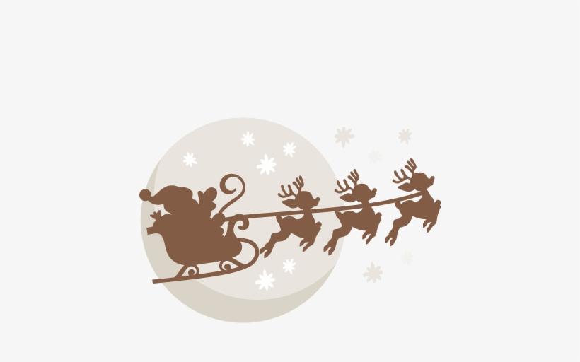 Manger Svg Santa - Santa Sleigh Svg Free, transparent png #949576