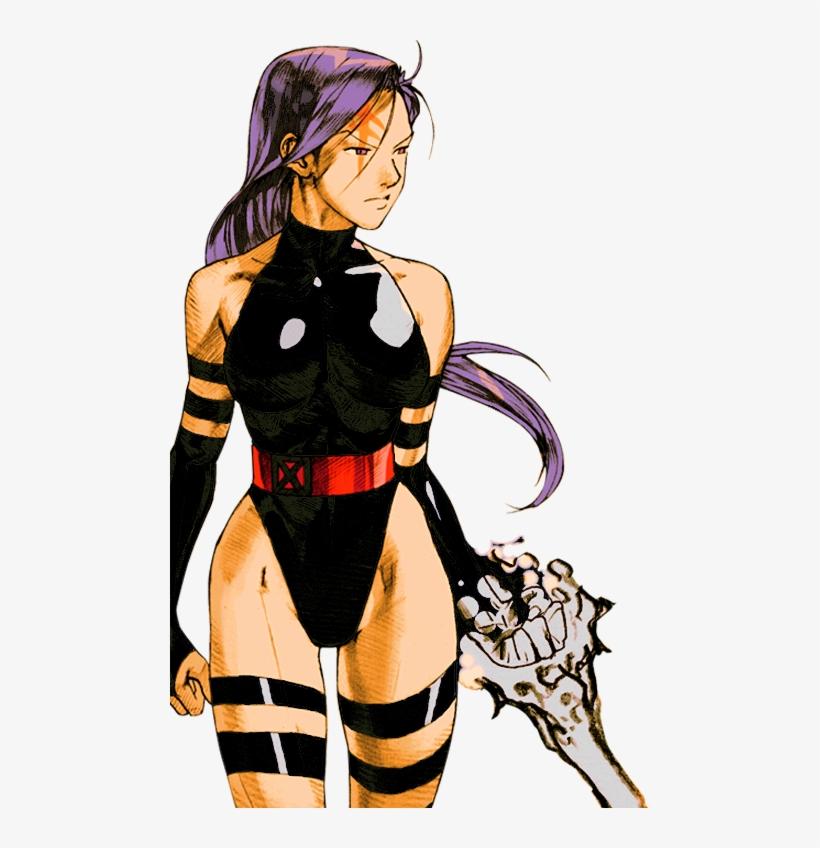 Marvel Vs Capcom 2 Psylocke By Hes6789 - Ryu Marvel Vs Capcom 2, transparent png #9402725