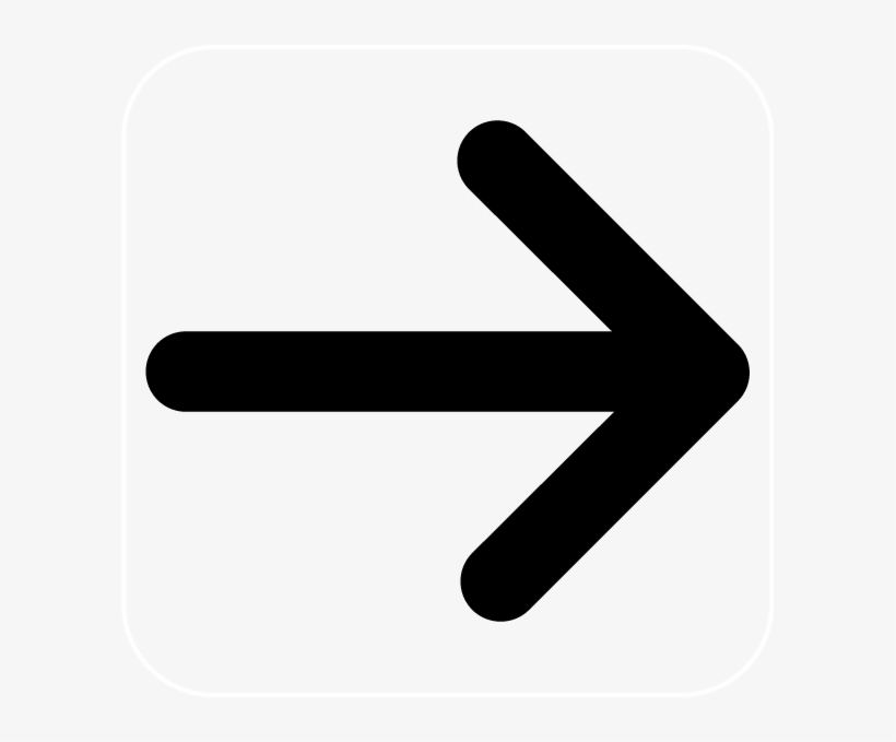 Png B/w - Arrow Pointing Right Clipart, transparent png #9402970