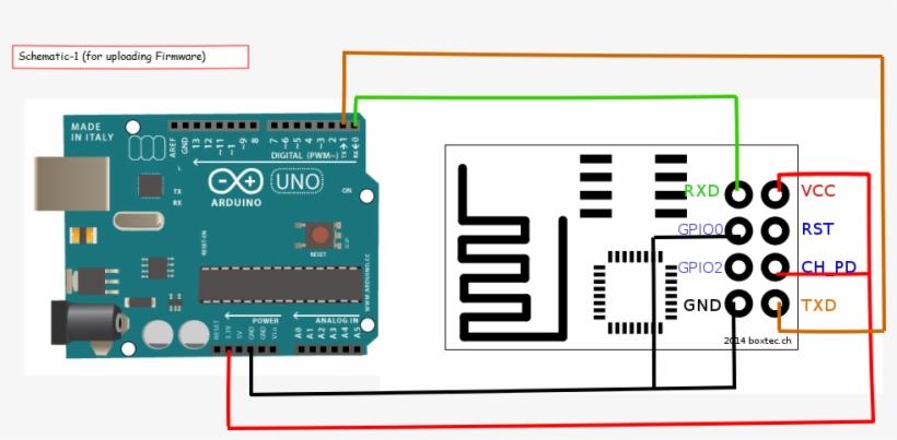 diagram arduino wiring esp8266  دائرة التحكم عن بعد  free