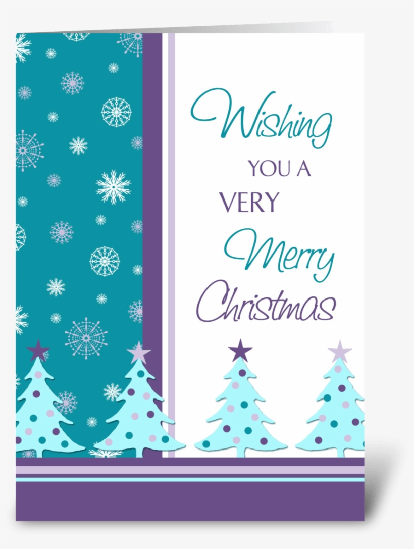 Merry Christmas Snowflakes And Trees - Christmas Card For A Favorite Teacher, transparent png #9411182