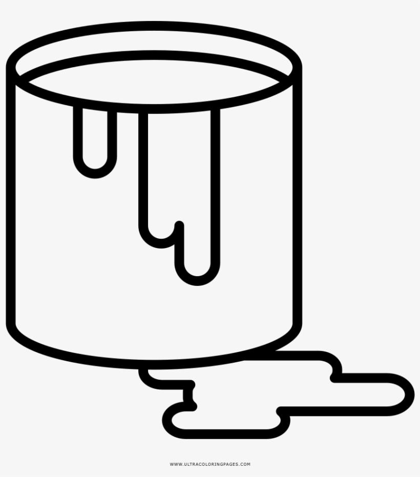Paint Bucket Coloring Page Lata De Tinta Para Colorir Free