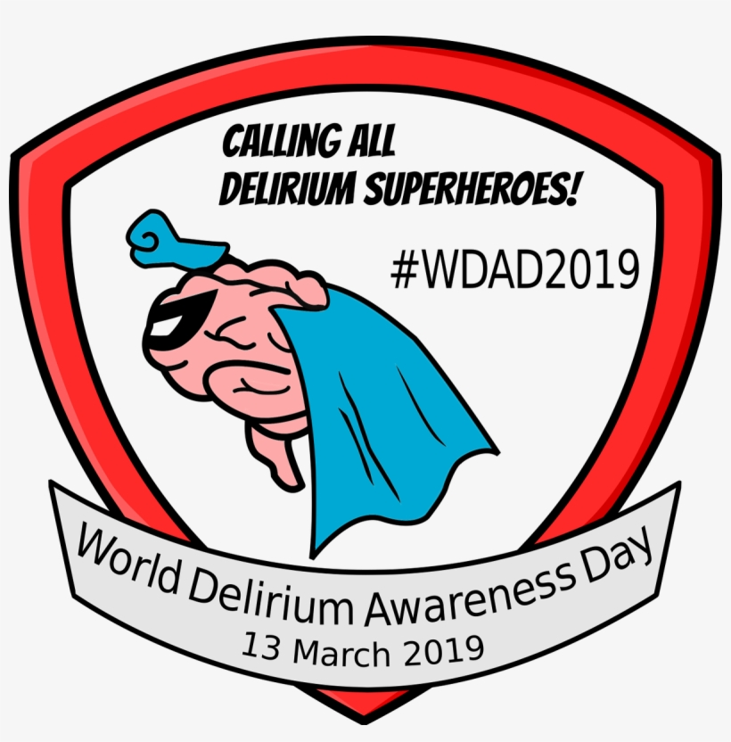 Idelirium On Twitter - World Delirium Awareness Day 2019, transparent png #9417238
