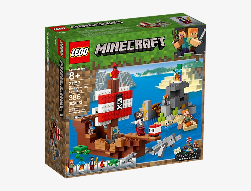 Craft A Pirate Ship With Gold Detailing, Pirate Banner, - Lego Minecraft The Pirate Ship Adventure, transparent png #9417303
