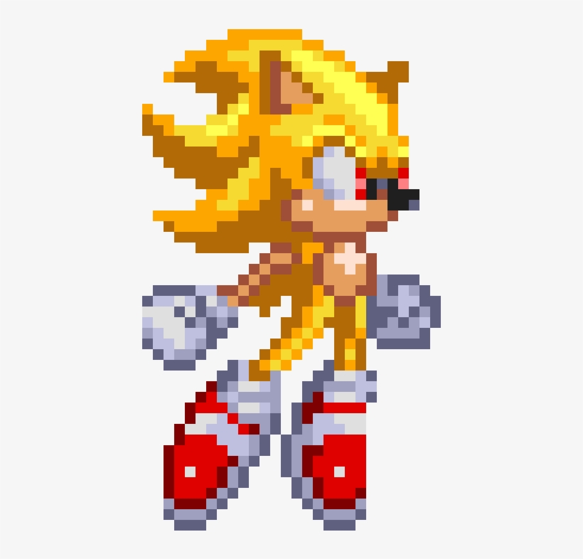 Image Super Sonic Sprite Png Death Battle Wiki Super Sonic Sprite Png Free Transparent Png Download Pngkey