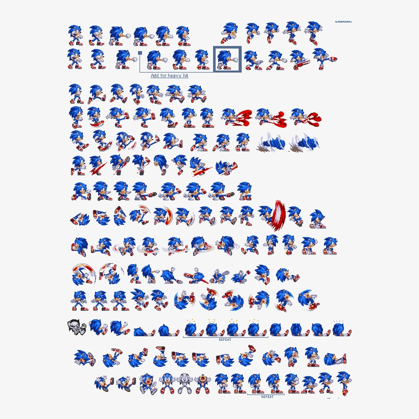 Modern Sonic Exe Sprites - Free Transparent PNG Download