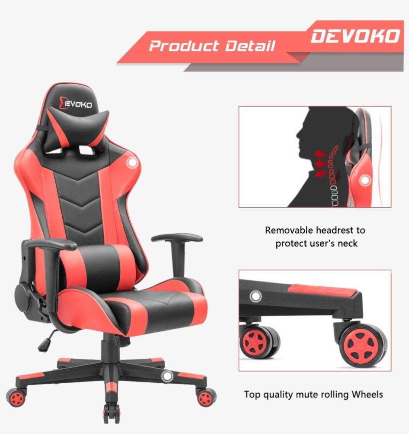Devoko Gaming Chair - Devoko Ergonomic Gaming Chair, transparent png #9432760