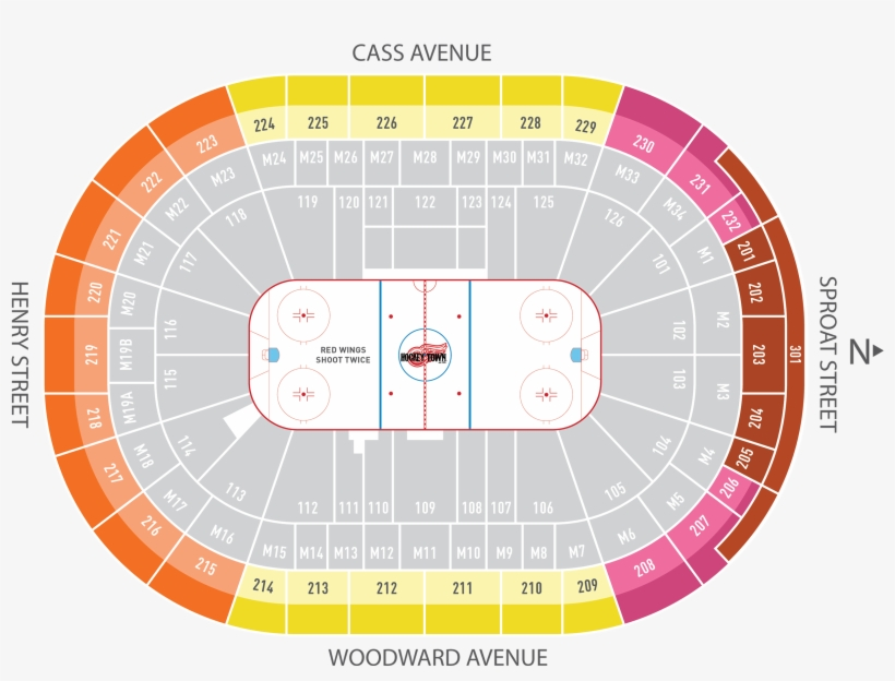 Season Ticket Plans Little Caesars Arena Detroit Red Seating Chart Little Caesars Arena Free Transparent Png Download Pngkey