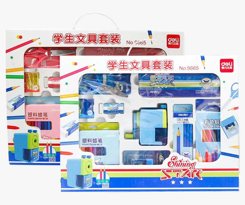 Deli 9665 Student School Supplies Stationery Gift Set - Plan, transparent png #9446016