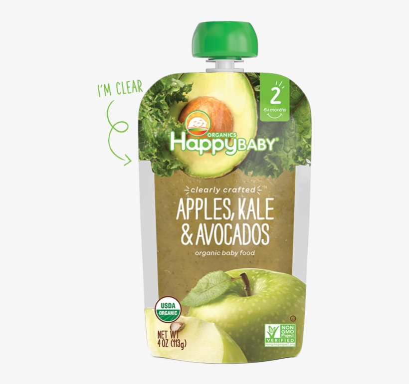 Happy Baby Stage 2 Broccoli, Peas & Pear - Avocado Baby Food Product, transparent png #9456802