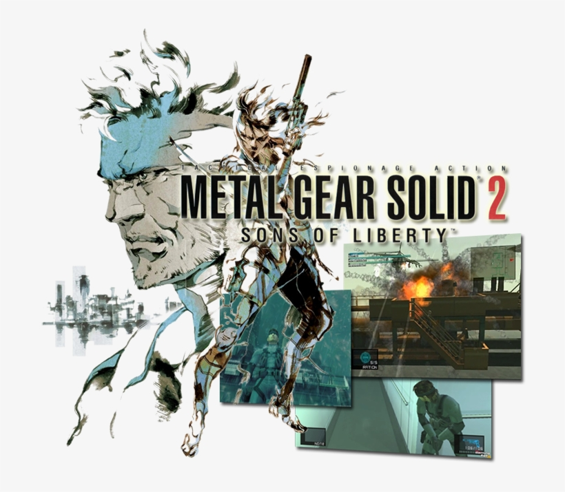 Metal Gear Solid - Metal Gear Solid 2, transparent png #9458499