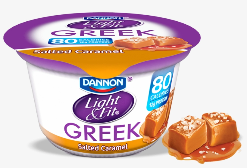 Greek Yogurt Salted Caramel - Greek Yogurt Strawberry Banana, transparent png #9462655
