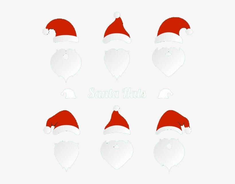 Santa Hat And Beard - Santa Hat And Beard Clipart, transparent png #9466178