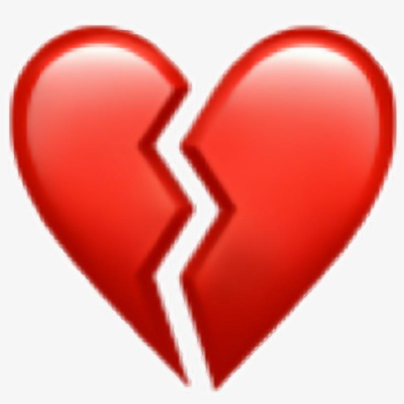 #heart #broken #iphone #read - Broken Heart Iphone Emoji, transparent png #9466540