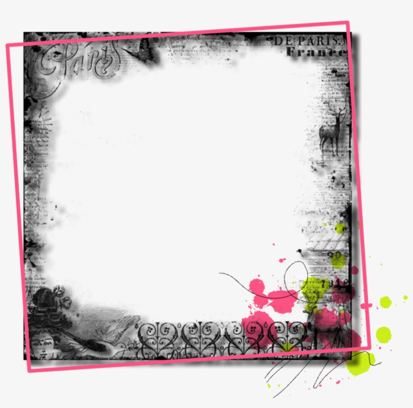 #frame #border #tag #label #grey #gray #floral #flowers - Picture Frame, transparent png #9467980