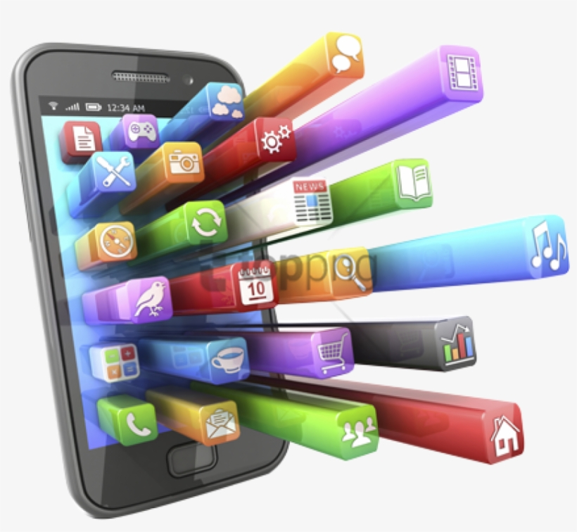 Free Png Cell Phone Apps Png Image With Transparent - Application Cell Phone, transparent png #9470745