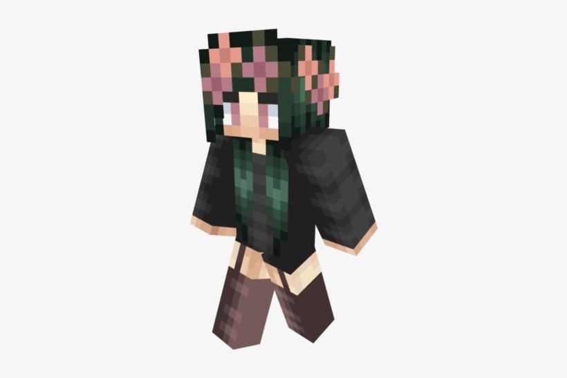 Minecraft Skins Girl With Flower Crown - Illustration, transparent png #9480266