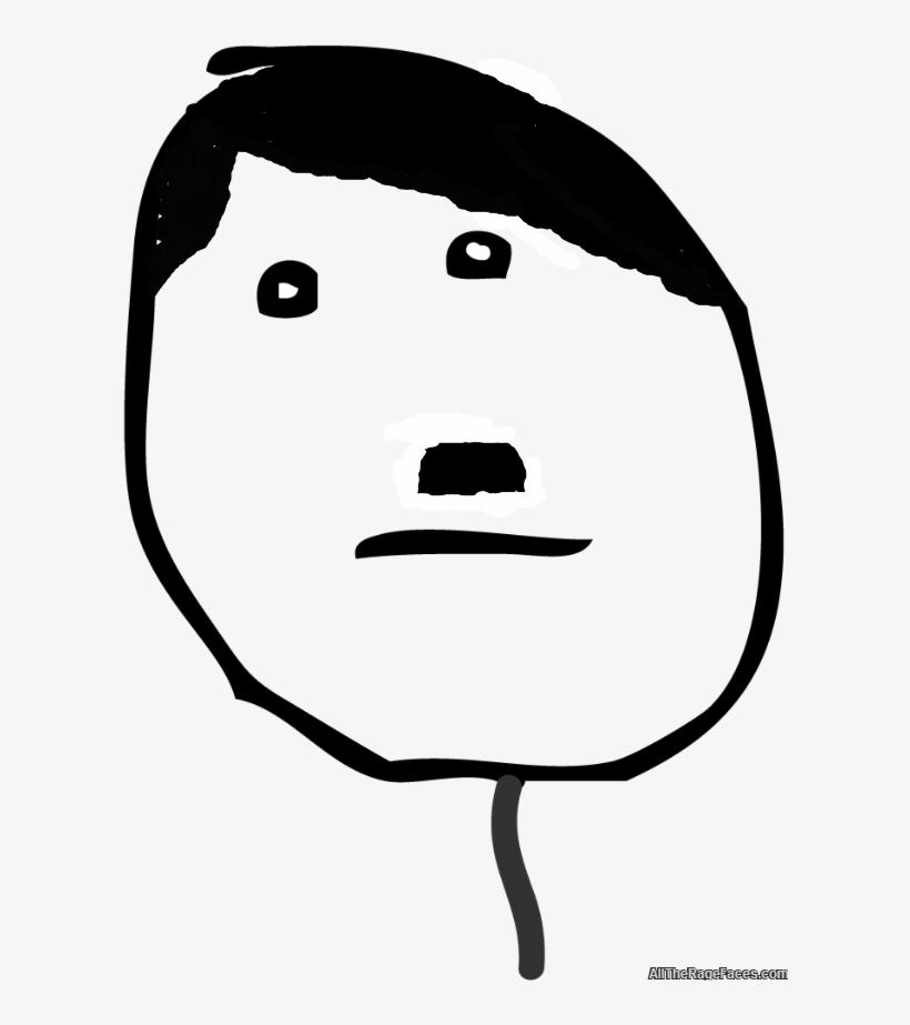 Rage Meme Poker Face Clipart , Png Download - Hitler Meme Face Png, transparent png #9483963