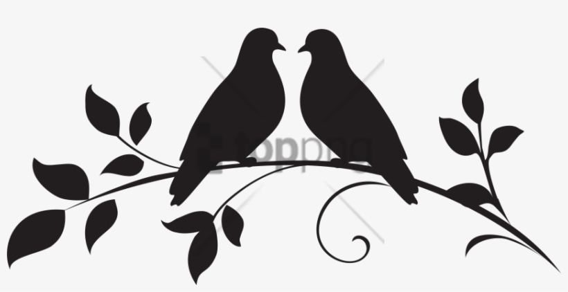 Free Png Love Birds Silhouette Png Image With Transparent - Wedding Dove Silhouette Png, transparent png #9484232