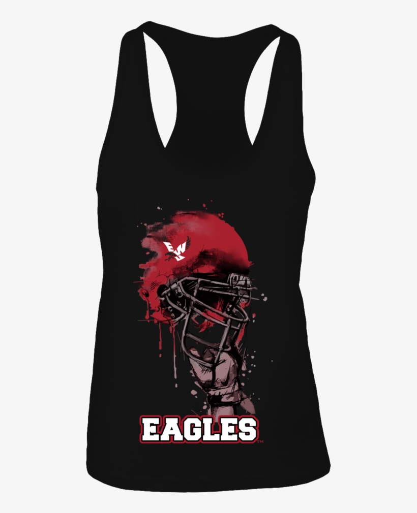 Rising Helmet Eastern Washington Eagles Shirt - Love Us Or Fear Us Either Way You Re Gonna Hear Us, transparent png #9491046