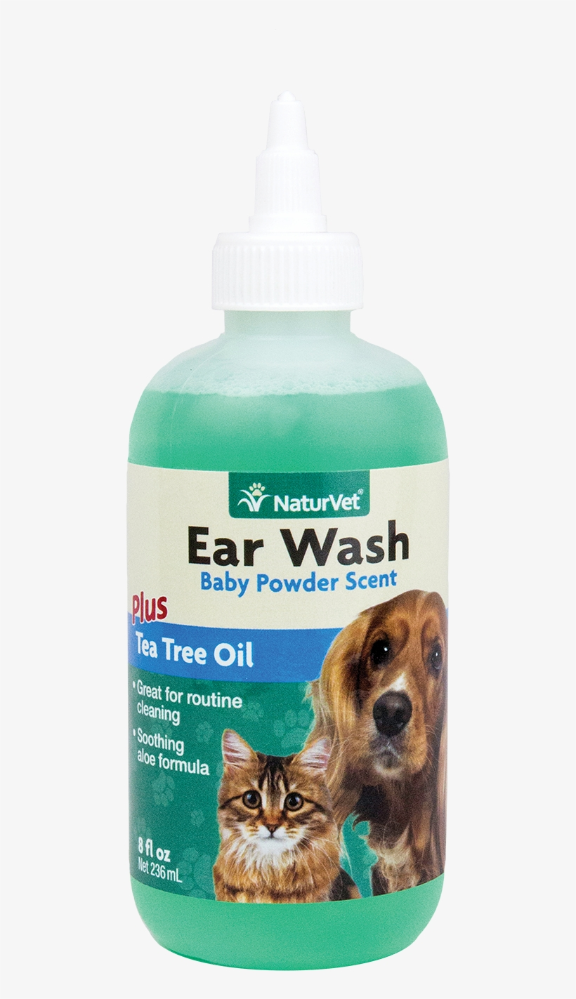Naturvet Gentle Pet Ear Wash & Odor Reducing Treatment - Tea Tree Oil Ear Cleaner For Dogs, transparent png #9493824
