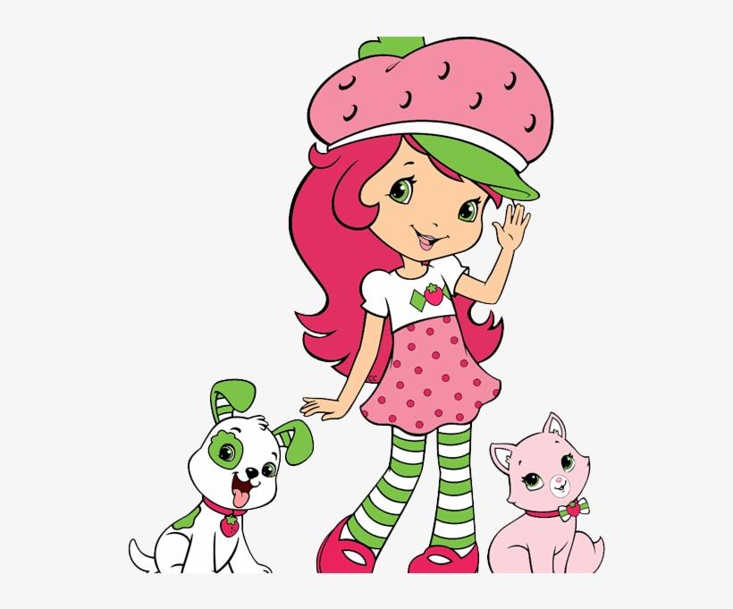 Strawberry Shortcake Cartoon Strawberry Shortcake Berry - Strawberry Shortcake With Pupcake And Custard, transparent png #9496775