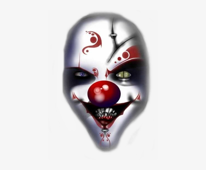 Share This Image - Evil Clown Face Png, transparent png #951444