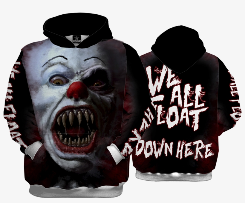 Evil Clown Hoody - Quantum Boutique Full Printed Women's Tank Top,, transparent png #951642