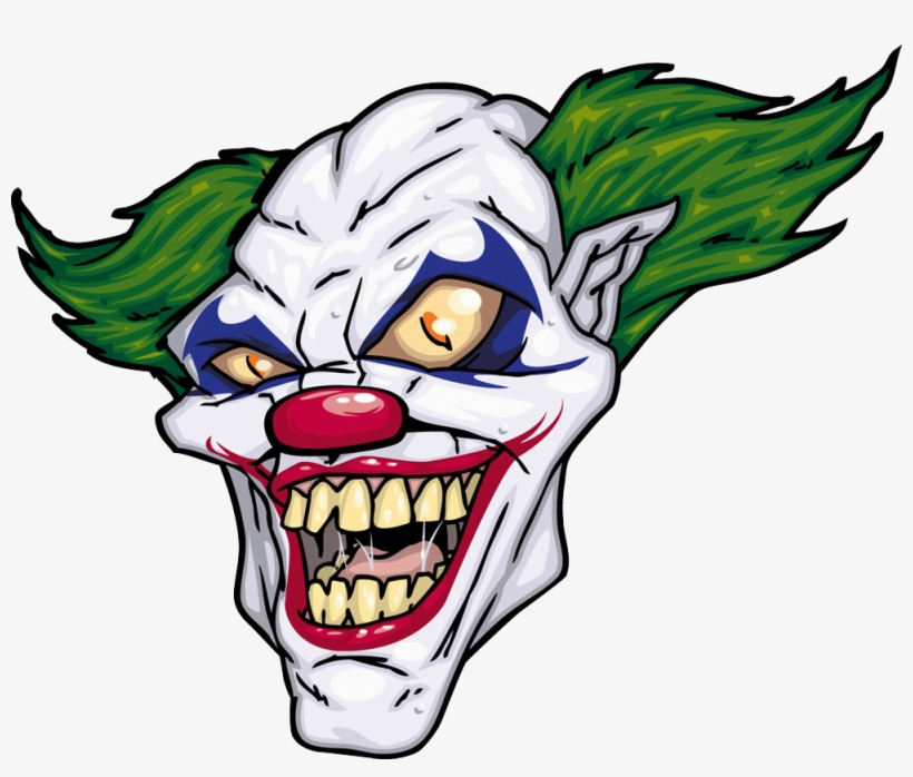 Joker Evil Clown Illustration - Scary Clown Cartoon, transparent png #952290