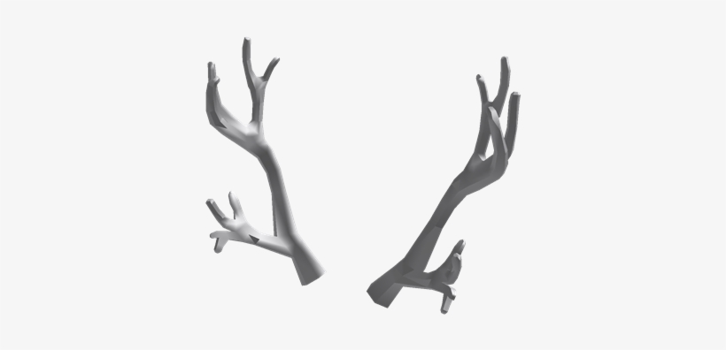 Antlers Mesh Gray Antlers Roblox Free Transparent Png Download