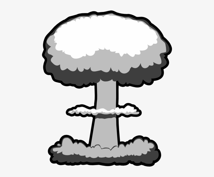 Atomic Explosion Png Clipart - Nuclear Mushroom Cloud Clip Art, transparent png #952435