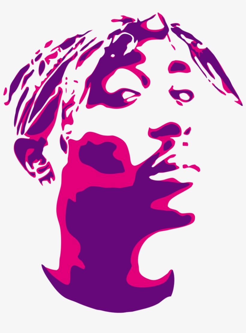 2pac Stencil Two Color By Seanjj D4vwpqz 2 Color Vector Art Free Transparent Png Download Pngkey