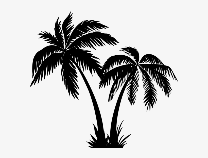 Palms Silhouette Clip Art Png Image - Palm Tree Silhouette Png, transparent png #954258