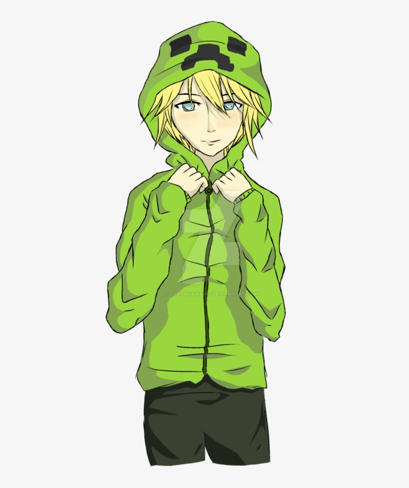 Picture Library Stock Boy By Darthkawaii On Deviantart Minecraft Anime Creeper Boy Free Transparent Png Download Pngkey