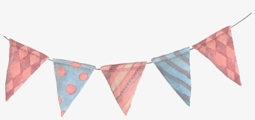 Image Library Stock Paper Banner Bunting Pennon Clip - Flags On A Line, transparent png #955740