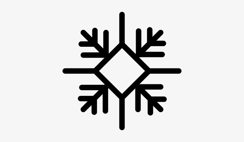 Snowflake With Diamond Outline Variant Vector - Four Seasons Weather, transparent png #956771