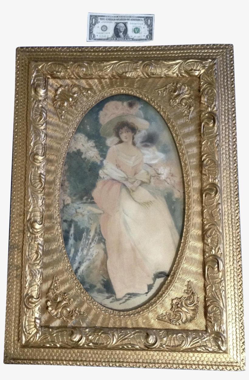 L Walker, 19th Century Watercolor Painting Portrait - 1 Us Dollar, transparent png #956857