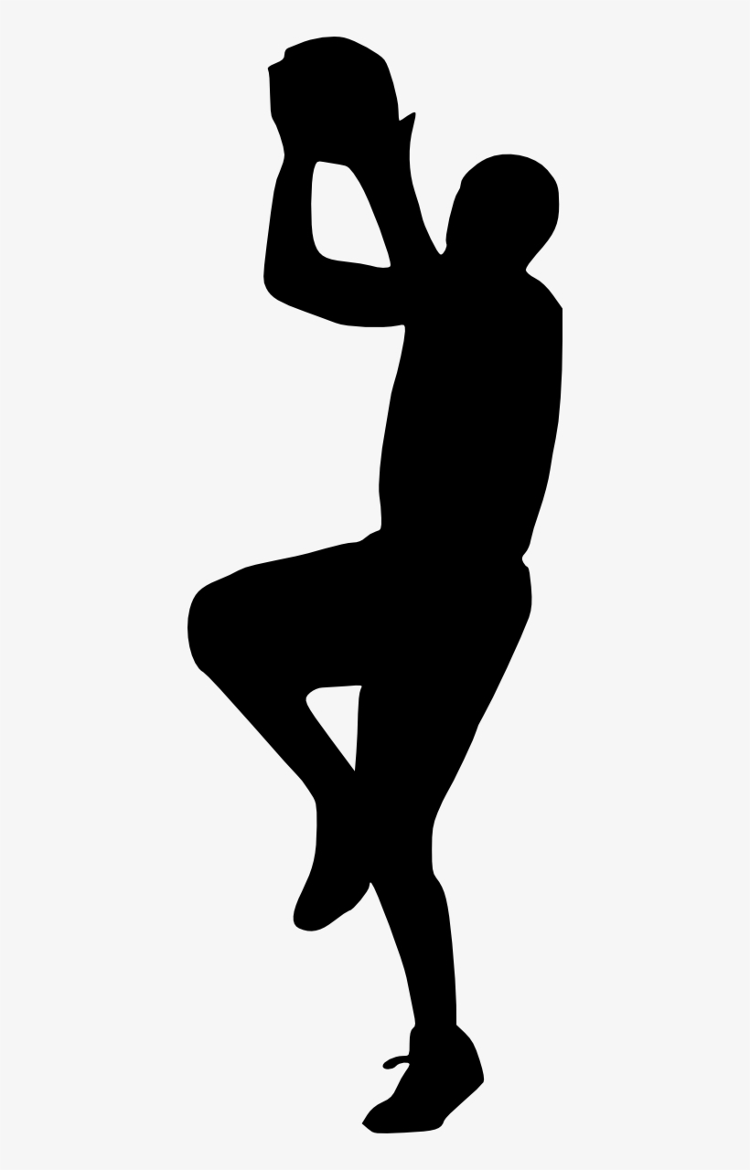 Basketball Player Silhouette Png - Portable Network Graphics, transparent png #958311