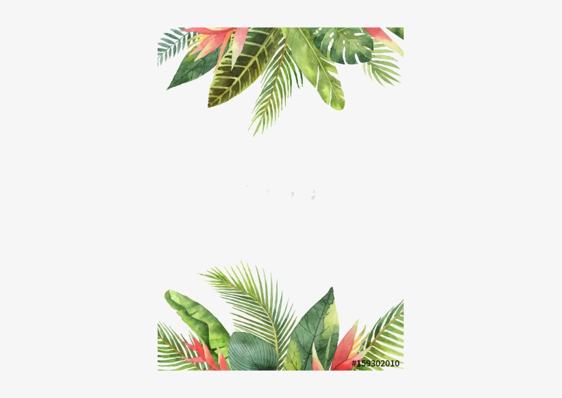 Tropical Leaves Background Watercolor, transparent png #958359