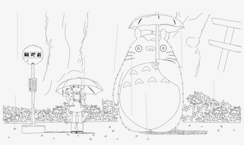 Totoro Coloring Page My Neighbor Totoro Coloring Pages Free
