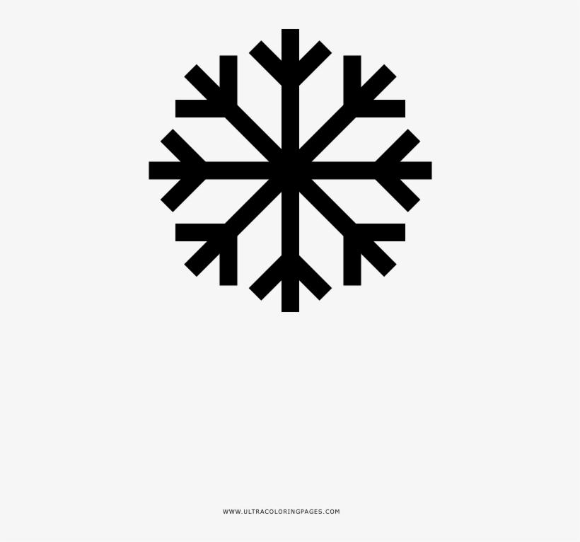 Copo De Nieve Página Para Colorear Snowflake Icon Free