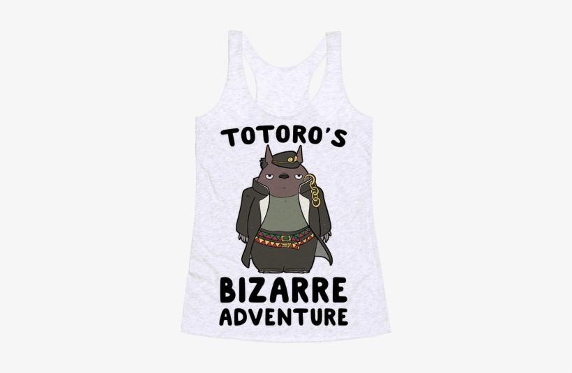 Totoro's Bizarre Adventure Racerback Tank Top - Active Tank, transparent png #959468