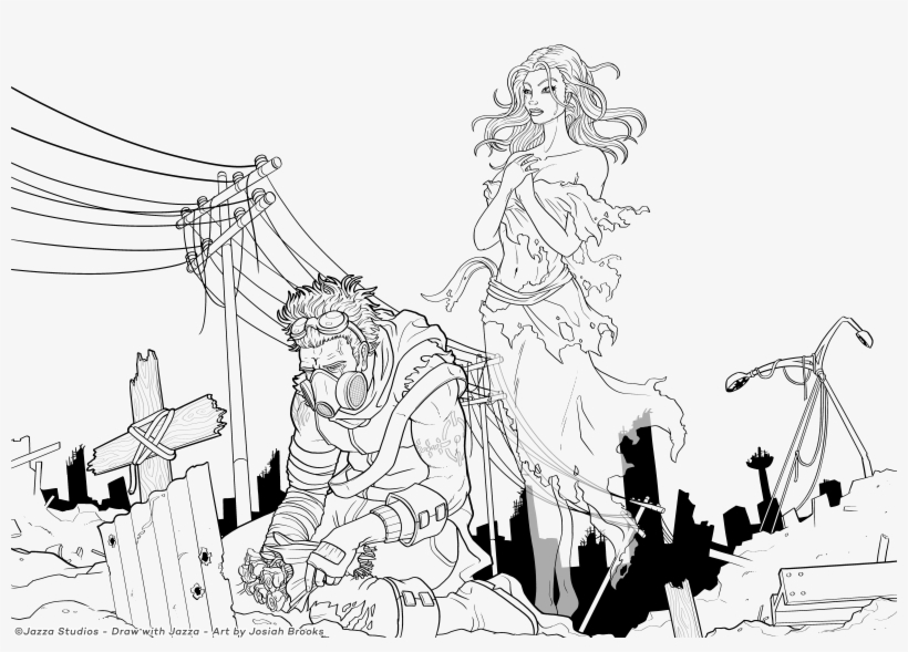 Princessnomy Images Apocalypse Ghost Hd Wallpaper And - Draw With Jazza Coloring Pages, transparent png #9501914