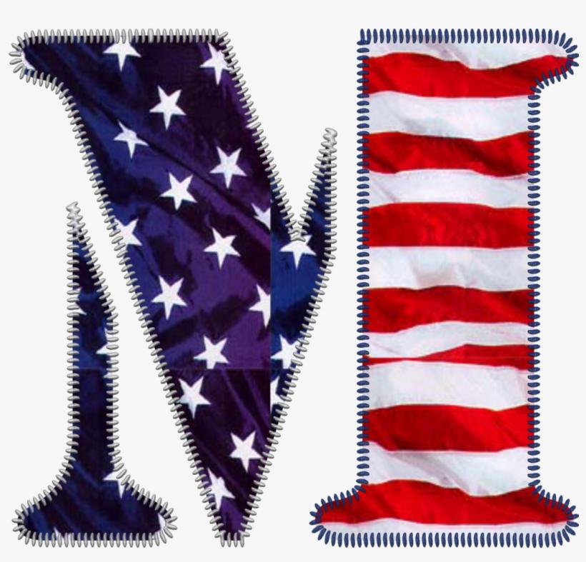 Patriotic Letter M Beautiful Lettering, Letters And - Patriotic Letter R, transparent png #9510991