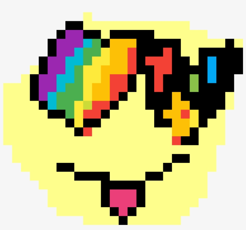 b6ef8b4ae Emoji Rainbow Loving Face - Pixel Art Rainbow Heart, transparent png  #9511683