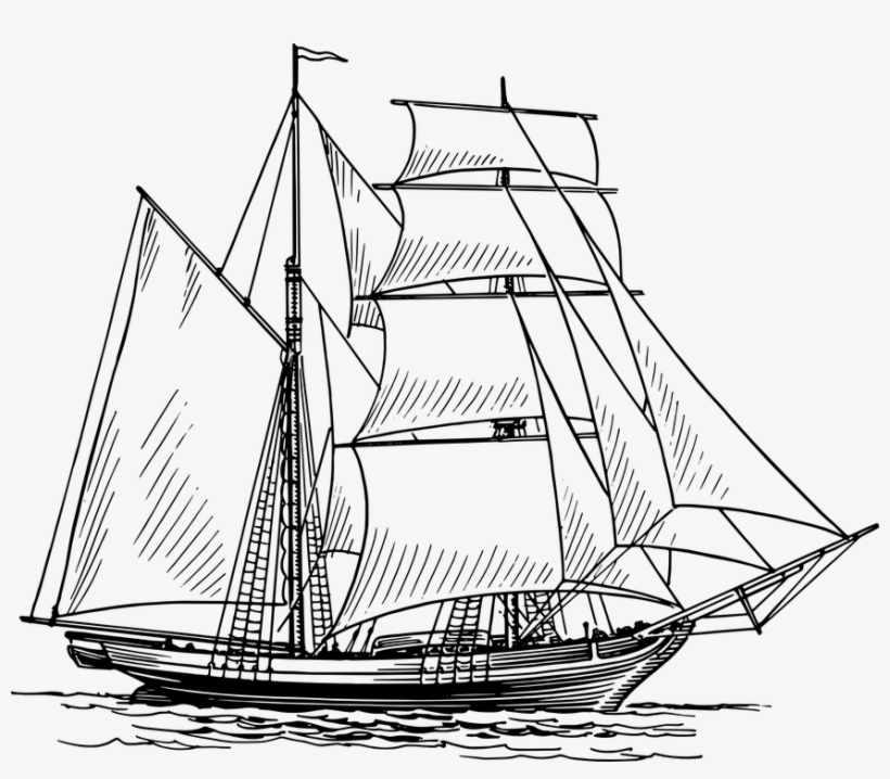 Free Vector Graphic - Old Boat Drawing, transparent png #9516310