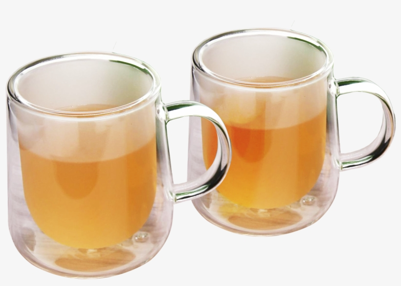 Etched Double Wall Coffee Or Tea Cups & Square Teapot - Beer Glass, transparent png #9521297