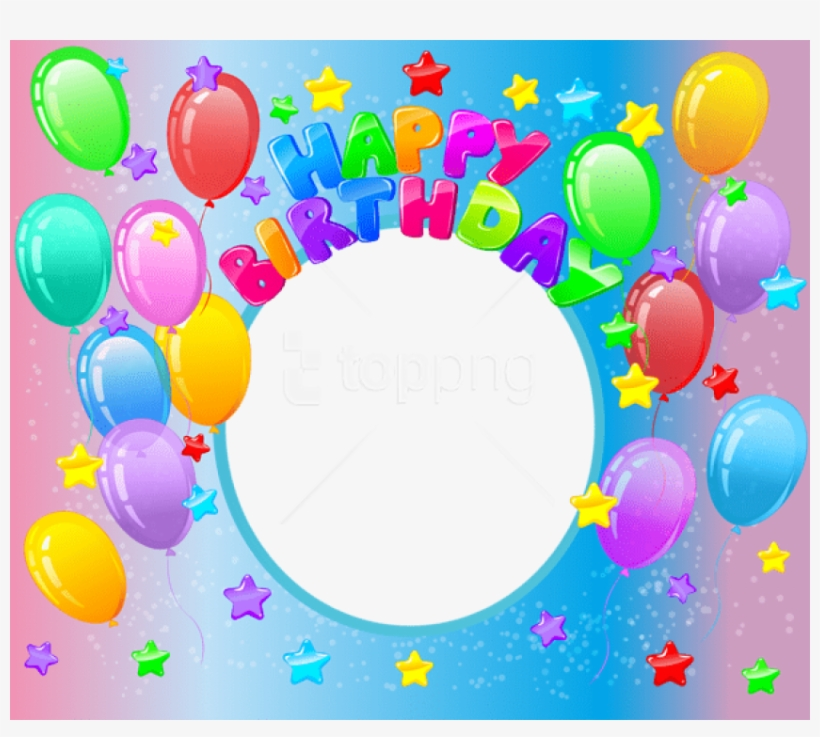 Free Png Happy Birthdayphoto Frame Background Best - Happy First Birthday Balloon Png, transparent png #9524440