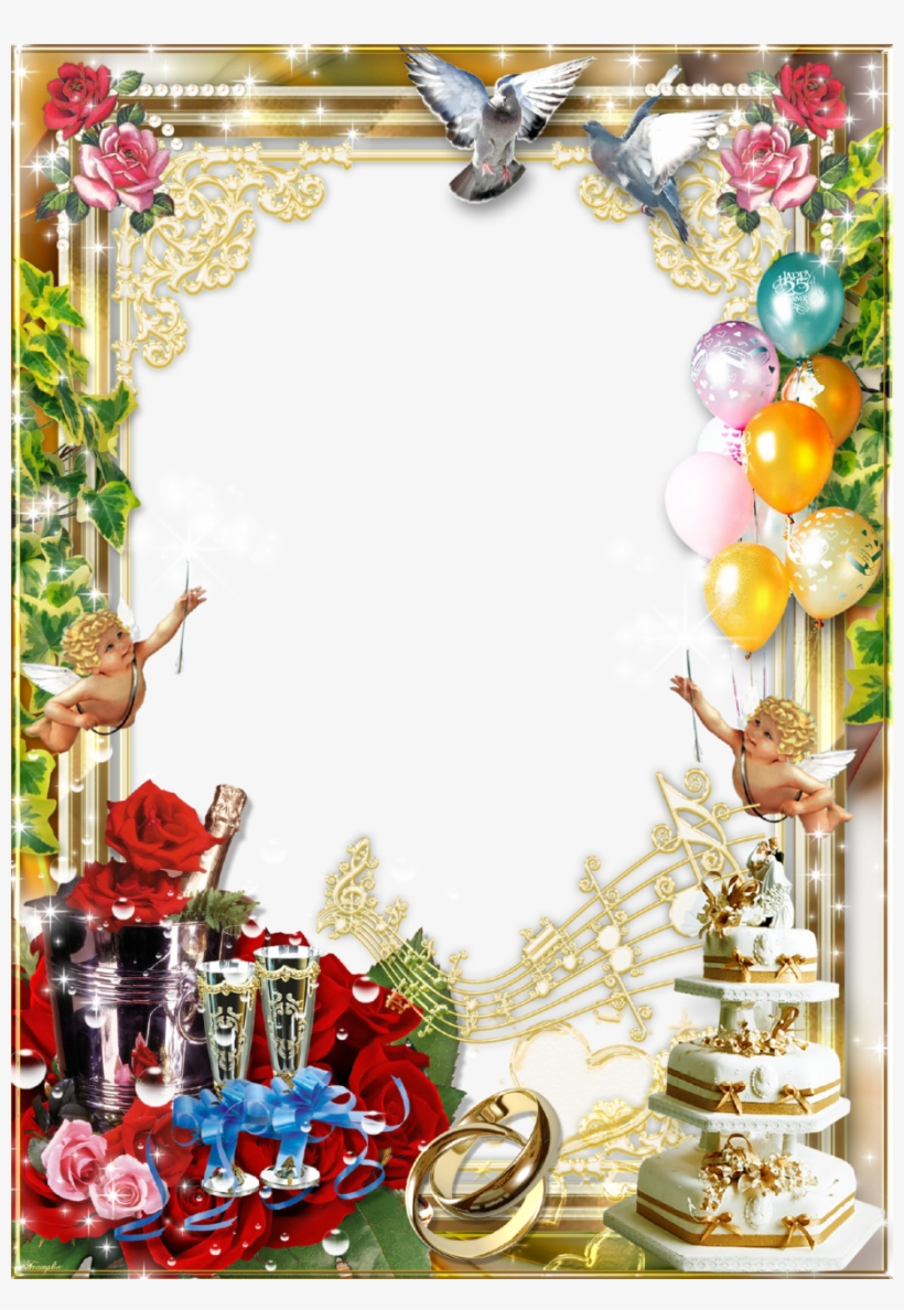 Wedding Background Frame Background Happy Birthday