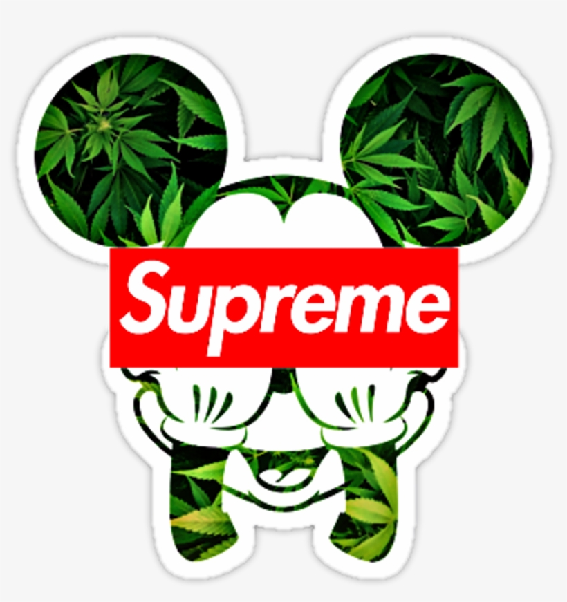 Mickey Mouse Supreme Mickey Mouse Weed Svg Free Transparent Png Download Pngkey